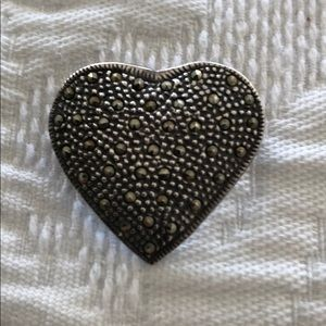 Jewelry - Sterling Silver Marcasite Pin Brooch or Pendant
